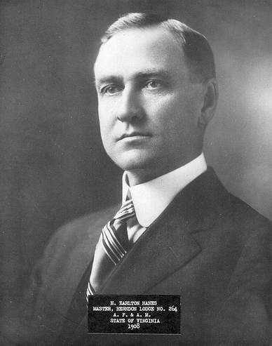 Black and white photograph of Harvey Earlton Hanes.