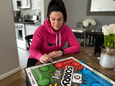 Ms. Galyean playing Sorry